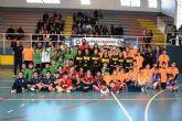 80 niños de diversos puntos de la región disfrutan en Mazarrón de una jornada de 'peque-balonmano'