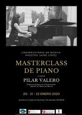 El Conservatorio Profesional de Música Maestro Jaime López de Molina de Segura organiza una master class de piano los días 20, 21 y 22 de enero
