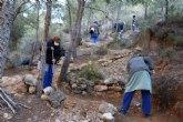 Los consejos comarcales trabajan en el mantenimiento de los senderos tradicionales de La Muela