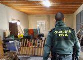 La Guardia Civil desmantela un grupo criminal al que se le atribuye una decena de robos en casas de campo de Mula