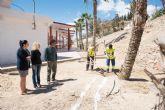 Adec�an el entorno de la estaci�n de autobuses de Puerto de Mazarr�n gracias al proyecto municipal de garant�a juvenil