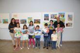 Manuel S�nchez y Juan Pag�n ganadores del Concurso de Pintura R�pida al Aire Libre para escolares