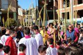 Los lumbrerenses se visten de hebreos en la procesión del Domingo de Ramos