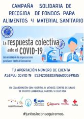 La campaña solidaria organizada conjuntamente por Aseplu, Cámara de Comercio y Ayuntamiento de Puerto Lumbreras recauda 10.000 euros en diez días