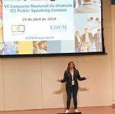 Silvia Cerdán, mejor oradora en inglés representa a España en Londres