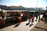 Los mercados de Puerto Lumbreras y El Esparragal abren con un cuarto del aforo y medidas para garantizar la seguridad de vendedores y usuarios