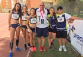 Doce medallas para el club atletismo Mazarrón en los campeonatos regionales de alevines y sub 14