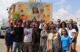 Un gran mural conmemora el 125 aniversario de la Romería de la Virgen del Carmen