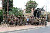 Paracaidistas del Regimiento de Infantería Zaragoza N° 5, con sede en el Acuartelamiento de Santa Bárbara, visitan el Museo de la Huerta de Alcantarilla