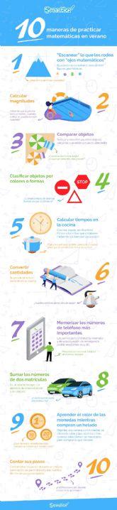 Diez maneras de practicar matemáticas en verano sin estudiar