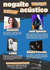 El patio del Centro Cívico de Puerto Lumbreras albergará el sábado 24 de julio el espectáculo gratuito 'Nogalte Acústico', con la participación de varios artistas locales
