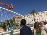 Limpieza de altura en los puentes del Segura
