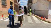 El Ayuntamiento de Puerto Lumbreras lleva a cabo el repintado de los pasos de peatones en casi 3000 metros cuadrados de calles del término municipal