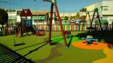 La concejalía de Parques y Jardines renueva el parque de Plaza Murcia, en San Javier