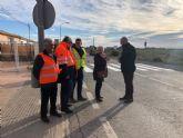 Mejora la seguridad vial en la vía que conecta la pedanía murciana de Los Martínez del Puerto con Torre Pacheco