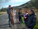 Ciudadanos mediará para desbloquear el arreglo de la carretera de conexión de la pedanía moratallera de Benizar