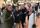 El consejero Jódar visita el renovado colector de saneamiento del barrio de Los Pulpites