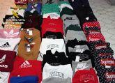 La Guardia Civil se incauta de 150 prendas de vestir falsificadas en un comercio de Totana