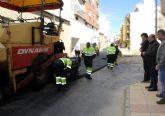 El Ayuntamiento de Puerto Lumbreras renueva el asfaltado de la calle Camino Real