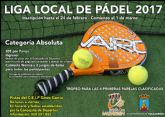 La liga local de pádel comienza el 1 de marzo