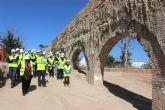 La expectación está creada con las excavaciones en el acueducto de la Noria de Alcantarilla. Este fin de semana 250 personas seguirán las seis nuevas visitas guiadas