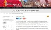 Estado de alarma - Real Decreto 463/2000