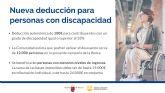 Las personas con discapacidad ya pueden acogerse por primera vez a una deducción de 100 euros en la Renta