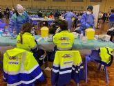 Primera jornada de vacunación masiva en Torre Pacheco