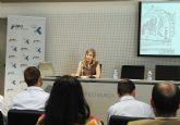 La Alcaldesa de Molina de Segura presenta el proyecto Caminos Escolares Seguros en una mesa redonda de la Semana Europea de la Energía