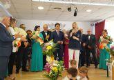 La consejera de Familia asiste a la elección de la reina y las damas del centro municipal de personas mayores de San Javier