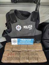 Dos detenidos con más de quince kilos de hachís en el vehículo en que circulaban en Molina de Segura