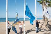 Siete banderas azules, seis de Q de calidad turística y dos de ecoplaya ondean en la costa del municipio este verano