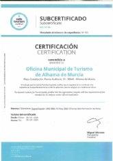 La oficina de turismo de Alhama obtiene el certificado �Safe Tourism Certified�