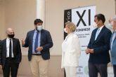 [El presidente López Miras recibe al comité organizador del XI Congreso Internacional Docomomo Ibérico