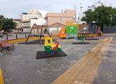 La Concejalía refuerza la limpieza y desinfección de los parques infantiles de la localidad