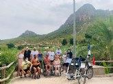 El Ayuntamiento de Cieza presta apoyo a 13 personas de la Asociación DisCamino que realizan la ruta 'Enlace de caminos'