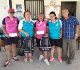 Las jugadoras del club de petanca La Salceda, campeonas y subcampeonas de la Copa Presidente 2019