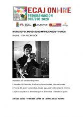La Concejalía de Juventud de Molina de Segura pone en marcha hoy jueves 15 de octubre la formación Workshop: Monólogos, Humor e Improvisación