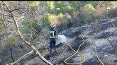 Incendio forestal en Blanca