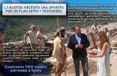 Ganar Totana: 'La Bastida necesita una apuesta por un plan serio y sostenible'
