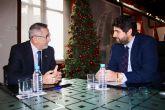 Fernando López Miras se reúne con el alcalde de La Unión