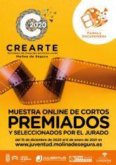 La Concejalía de Juventud de Molina de Segura organiza una muestra online de los cortos ganadores y seleccionados en el Certamen de Creación Artística Joven CREARTE 2020