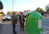 Instalan 34 contenedores nuevos para fomentar el reciclaje de vidrio en Puerto Lumbreras