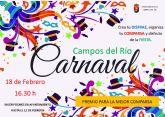 La concejalía de Festejos invita a participar en el Carnaval de Campos del Río