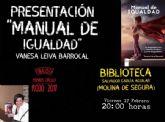 La abogada y escritora molinense Vanesa Leiva presenta el libro Manual de Igualdad el viernes 17 de febrero en Molina de Segura