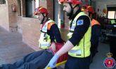Alumnos del colegio 'Reina Sofía'participan en un simulacro de evacuación del edificio en caso de terremoto