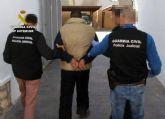 La Guardia Civil detiene a un experimentado delincuente buscado por autoridades judiciales de Murcia y Alicante