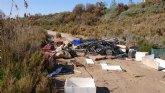 La asociaci�n Meles y el Ayuntamiento de Alhama retiran 1.600 kg de residuos en los alrededores del r�o Guadalent�n