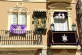 El balcón de la Plaza del Risueño, el más bello de la Semana Santa de Cartagena