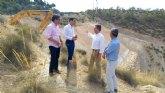 Fomento aumenta la seguridad de la carretera que conecta Ulea con la autovía A-30 con la reparación de un talud